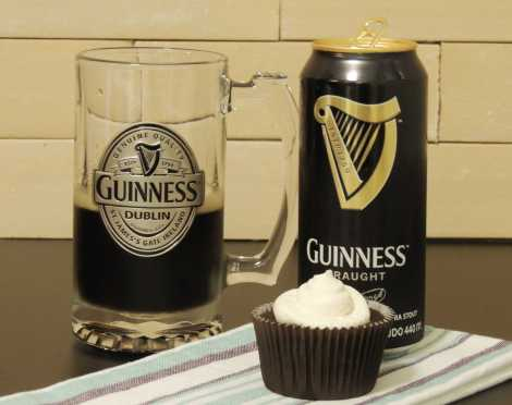booze-infused cupcake