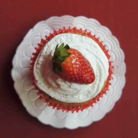 triple strawberry cupcake