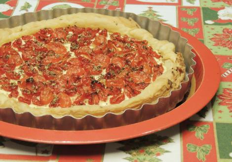 tomato and cream cheese tart