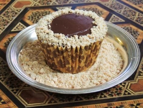 peanut butter and ganache cupcake