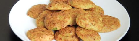 baked cheesy courgette fritters