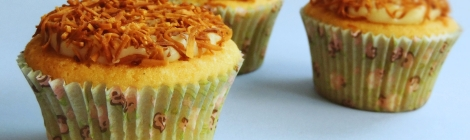 the best vanilla cupcakes ever with coconut brigadeiro filling and frosting