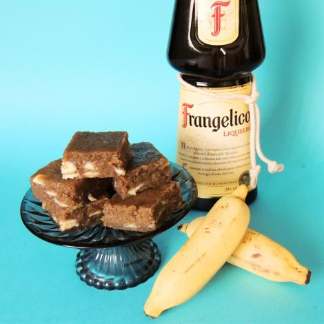 frangelico banana blondies